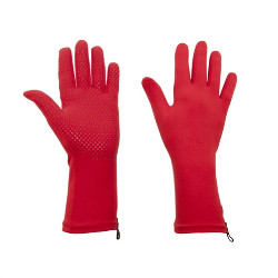 Gardening gloves red with grippers Foxgloves